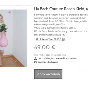 lia bach couture rosen kleid  rosa  planetbox du entscheidest shop  bio mode  fair trade