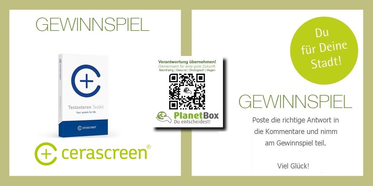 Testosteron Test Gewinnspiel Planetbox du entscheidest de  cerascreen schwerin  hamburg  facebook twitter  google