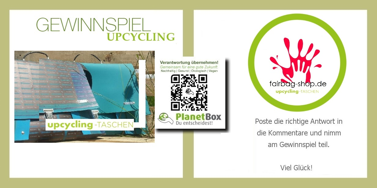 Upcycling taschen fairbag shop .de fair trade  taschen  deutschland  planetbox du entscheidest de  partner  life style. gewinnspiel facebook twitter   google plus