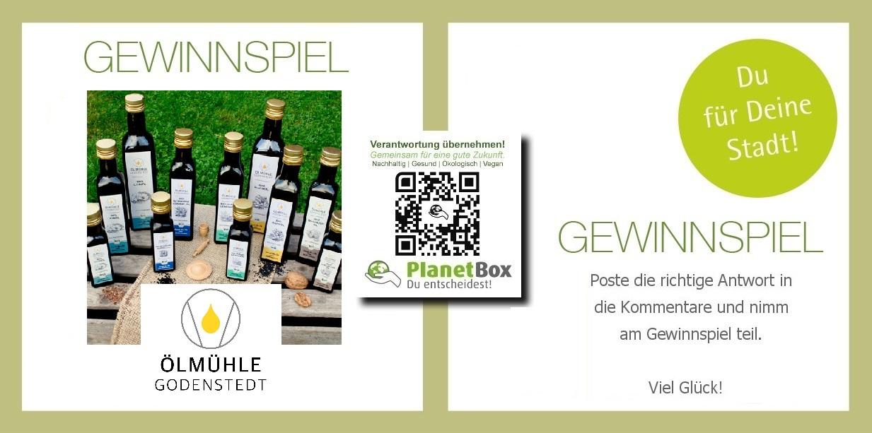 vegibo Ölmühle Godenstedt  gewinnspiel win planetbox  du entscheidest de  bioöl hanföl bio  vegan