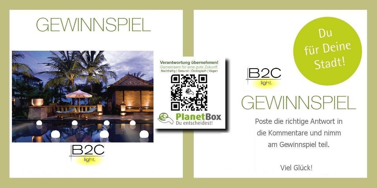 hochwertiger Lampen und Leuchtmittel im OnlineShop auf b2c light de gewinnspiel  planetbox  du entscheidest de  partner nachhaltig map logo facebook  twitter  aktion