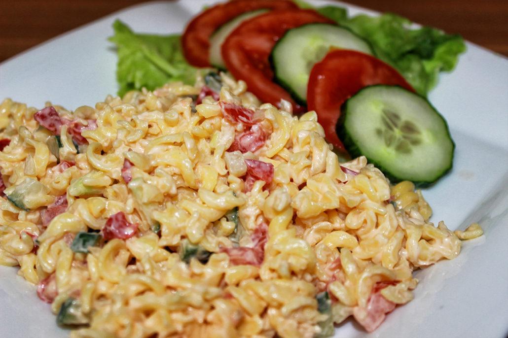 veganer und glutenfreier nudelsalat mit mayonnaise weitere rezepte f r die festtage. Black Bedroom Furniture Sets. Home Design Ideas