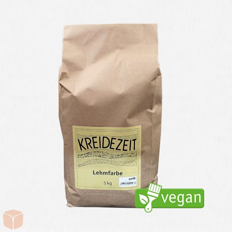 Kreidezeit Vega Lehmfarbe Weiß 2kg By BauNatura.de Handel